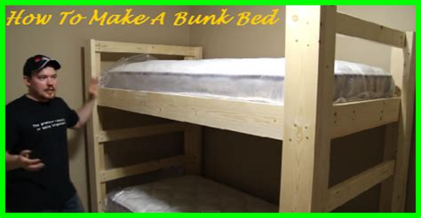 how to make a bunk bed simple and easy bunk bed construction gotta go do it