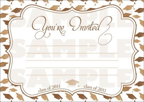 40 Free Graduation Invitation Templates Template Lab Free Printable Graduation Invitation Templates