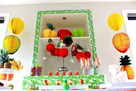 Fruit Decoration For Kids Kara S Party Ideas Tutti Frutti Healthy Fruit Boy
