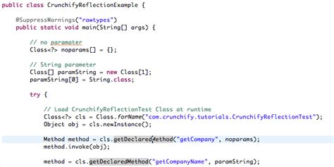 tutorial java reflection java reflection how to use reflection to call java method