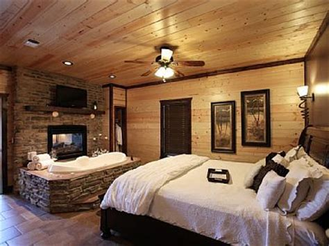 romantic bedroom   king size bed jacuzzi tub