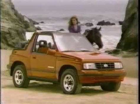 chevy tracker 1990 chevy geo tracker commercial from 1990 get to know youtube