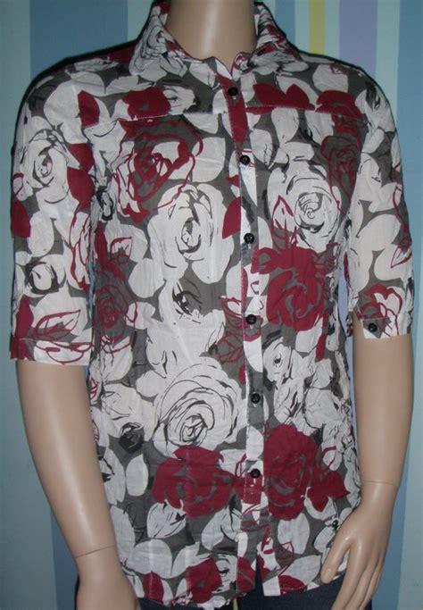 Jo 985 Blouse Bunga Timbul sejoli plussize plus size fashion kemeja bunga abstrak