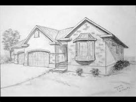 drawing of house how to draw a realistic house tutorial youtube