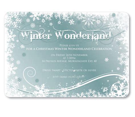 winter wonderland invitation christmas party invitations