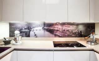 Mirror Tile Backsplash Kitchen Glass Splashback Contemporary Kitchen Contemporary