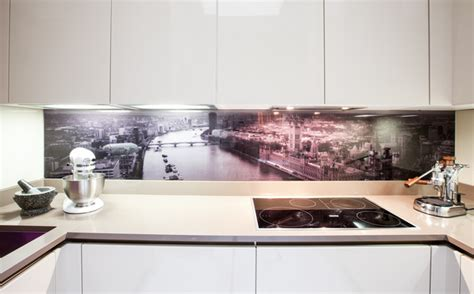 ideas for kitchen splashbacks glass splashback contemporary kitchen contemporary kitchen manchester by furnished by