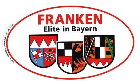 Lustige Bayern Aufkleber by Aufkleber Franken Elite In Bayern Frankenland Bayern
