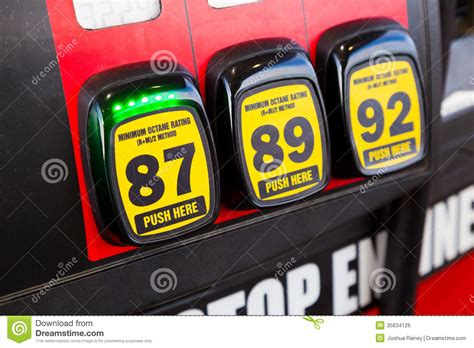 Car Types Of Gas by Gas Octane Options Royalty Free Stock Image Image 35634126