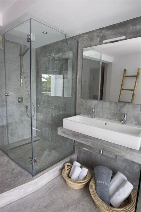 polished concrete in bathroom shower floor ideas that reveal the best materials for the job