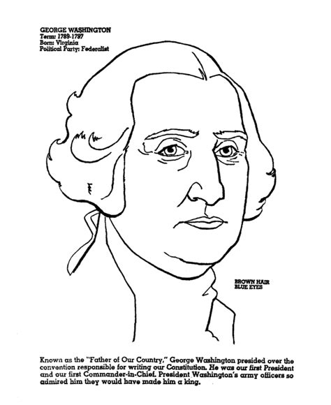 george washington coloring page coloring home