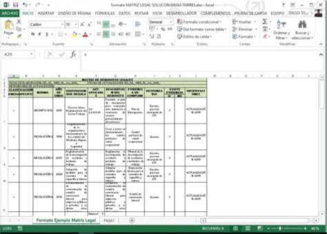 formatos sena 2016 formato matriz legal curso sena sgsst