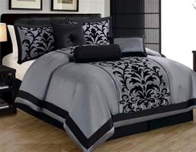 15 piece gray black comforter set king size linen plus