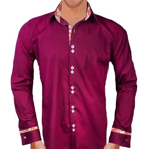 shirt designer maroon with orange paisley dress shirts