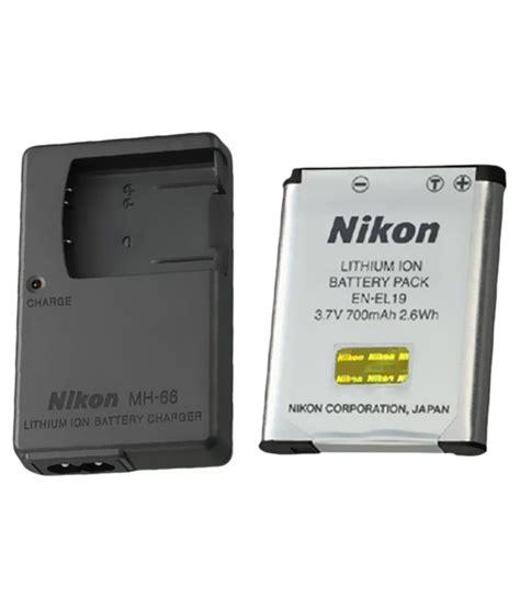 battery charger mh 65 nikon en el19 li ion 6600 mah battery charger
