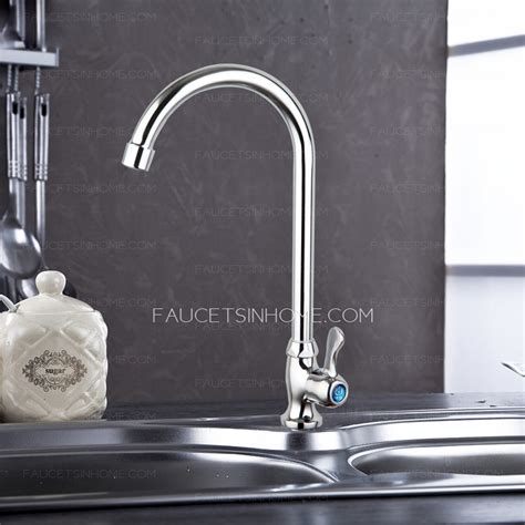 cheap bent copper single handle kitchen sink faucet