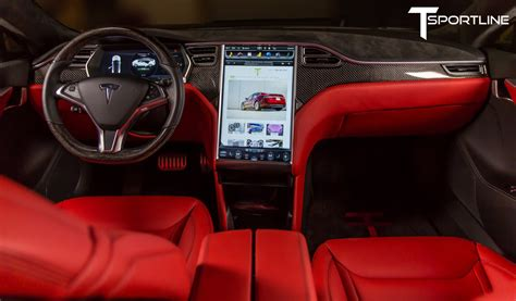 tesla inside two t sportline tesla model s p85ds for sale