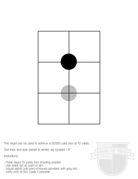 printable 200 yard rifle targets talk me through zeroing a red dot at 10 yards ar15 com