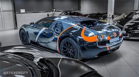 supersport bugatti black chrome bugatti veyron sport by sticker city
