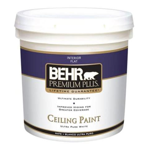 behr premium plus 2 gal flat interior ceiling paint 55802
