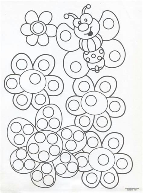 Q Tip Coloring Pages by Q Tip Painting Sheets Summer Program Ideas