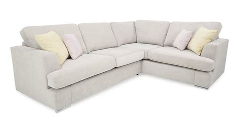 Dfs Sofa Bed Dfs Freya Silver Fabric Left Facing 2 Corner Deluxe Sofa Bed Ebay