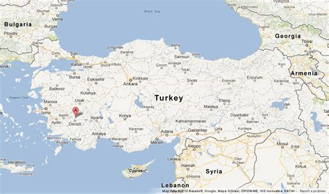 on map where is pamukkale on map of turkey world easy guides