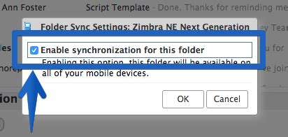 zimbra mail mobile app shared resources synchronization for activesync new in