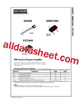 2n3906 transistor datasheet pdf 2n3906 datasheet pdf fairchild semiconductor