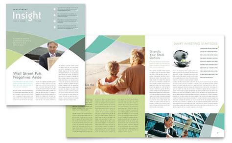 Financial Services Newsletter Financial Services Newsletters Templates Designs