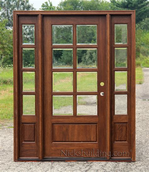 What Are Exterior Doors Made Of Exterior Doors With Sidelights Solid Mahogany Entry Doors