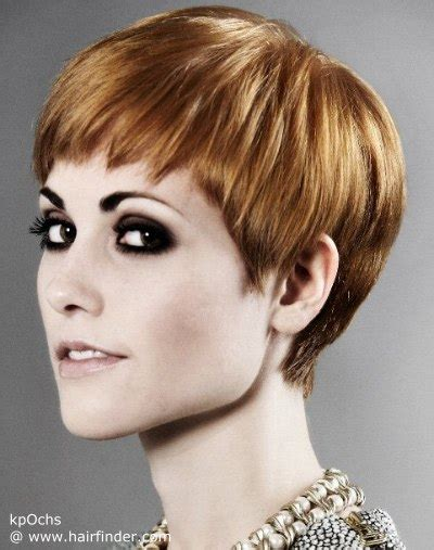 Short pixie haircut with a short fringe and lovely cutting