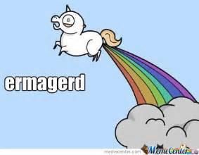 Unicorn Rainbow Meme - rainbow shitting unicorn by nigel willaert meme center