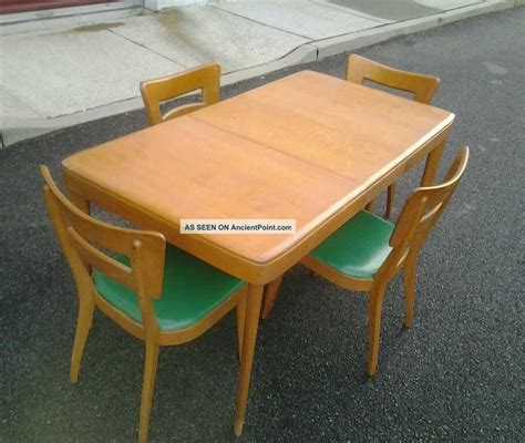 Heywood Wakefield Dining Table And Chairs Heywood Wakefield Chairs Mid Century Modern Heywood Wakefield Dogbone Dining Chairs And