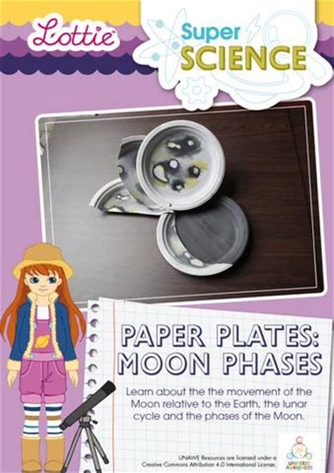 lottie moon doll paper plates moon phases science activity for