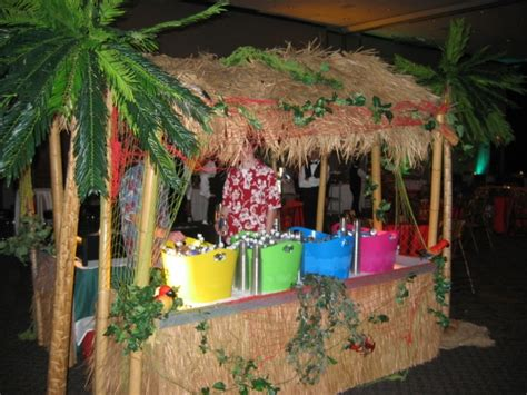 table top tiki bar hut scenery and props