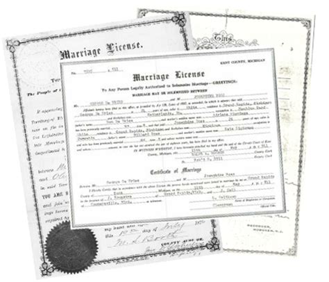 Michigan Marriage License Records Free Free Marriage Records Search Directory