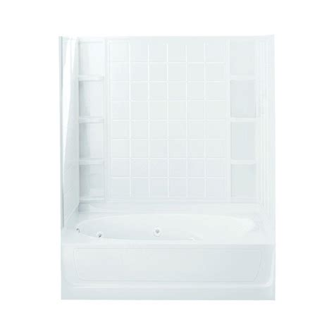 Left Drain Shower Kit by Sterling Ensemble 42 In X 60 In X 72 In Bath And Shower