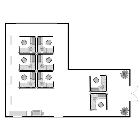 Cubicle Floor Plan by Cubicle Plan