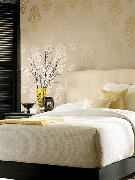 patterned bedroom wallpaper adding style with patterned wallpaper