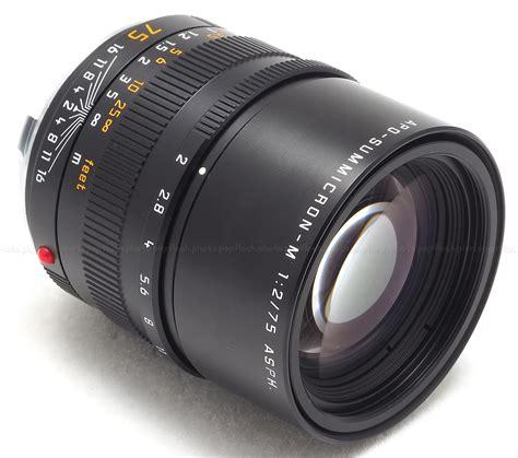 leica usa leica 75mm f2 asph apo summicron m 6 bit lens usa new