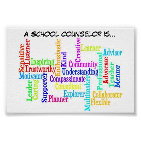 of school counselor quot a school counselor is quot poster zazzle