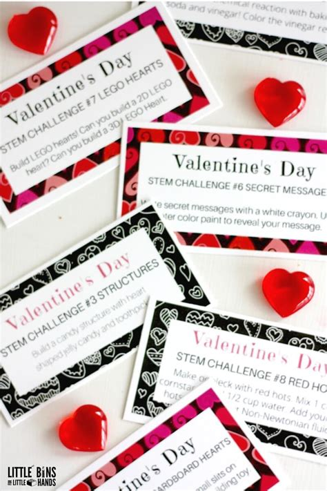 engineering valentines cards valentines day challenge cards for science and stem