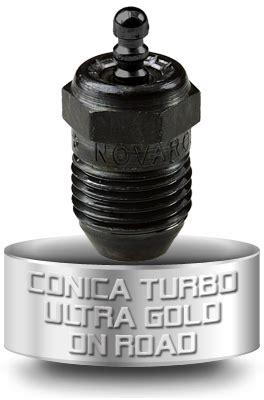 Novarossi C6tgc Conical Turbo Gold Glowplug novarossi c5tgf conical turbo gold glowplug burnished