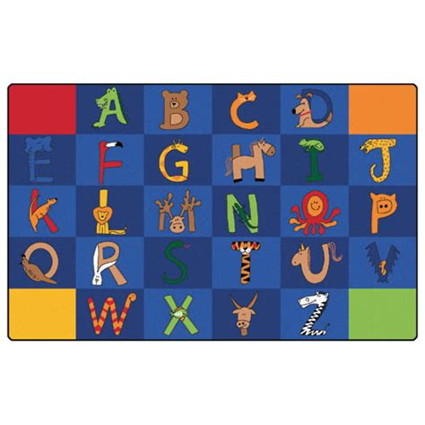 large alphabet rug a to z animal rugs