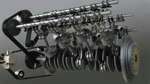 Bugatti Veyron W16 Engine Animation Engine W16
