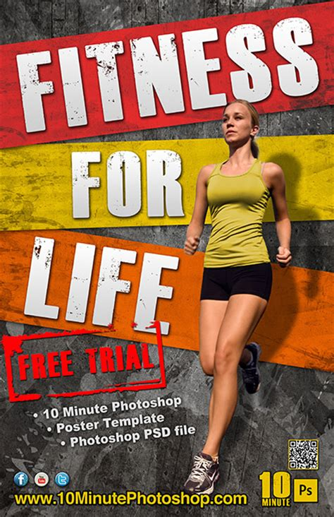 Fitness Poster Template Psd File Photoshop Design Pinterest Fitness Posters Fitness Poster Template Free