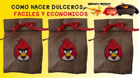 como hacer originales servilleteros economicos como hacer dulceros angry birds faciles y economicos youtube