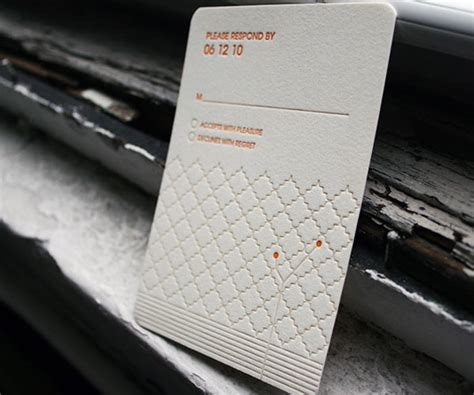 Wedding Announcement Ledger by A Showcase Of Letterpress Invitations For Inspiration