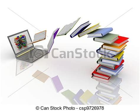 free printable art nyc digital library stock illustration of digital library books fly into